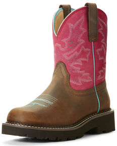 Ariat Women's Original Fatbaby Western Boots - Round Toe, Light Pink, hi-res