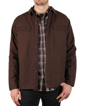 American Worker Men's Diligent Canvas Shirt Jacket , Dark Brown, hi-res