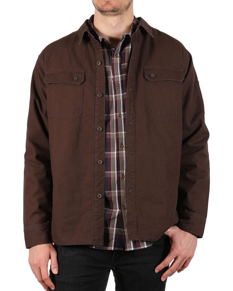 American Worker Men's Diligent Canvas Shirt Jacket , Dark Brown, hi-res