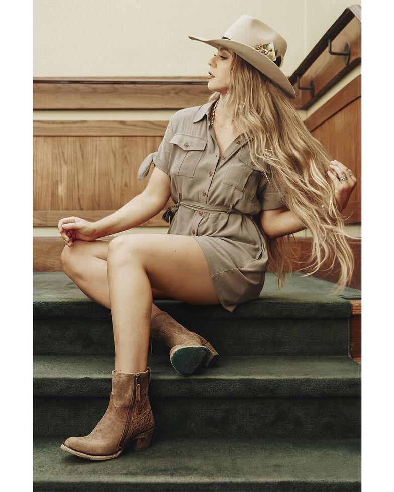 Lane Women's Windfall Fashion Booties - Round Toe, Tan, hi-res