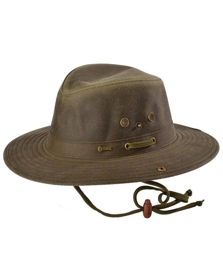 Outback Unisex Oilskin River Guide Hat, Sage, hi-res