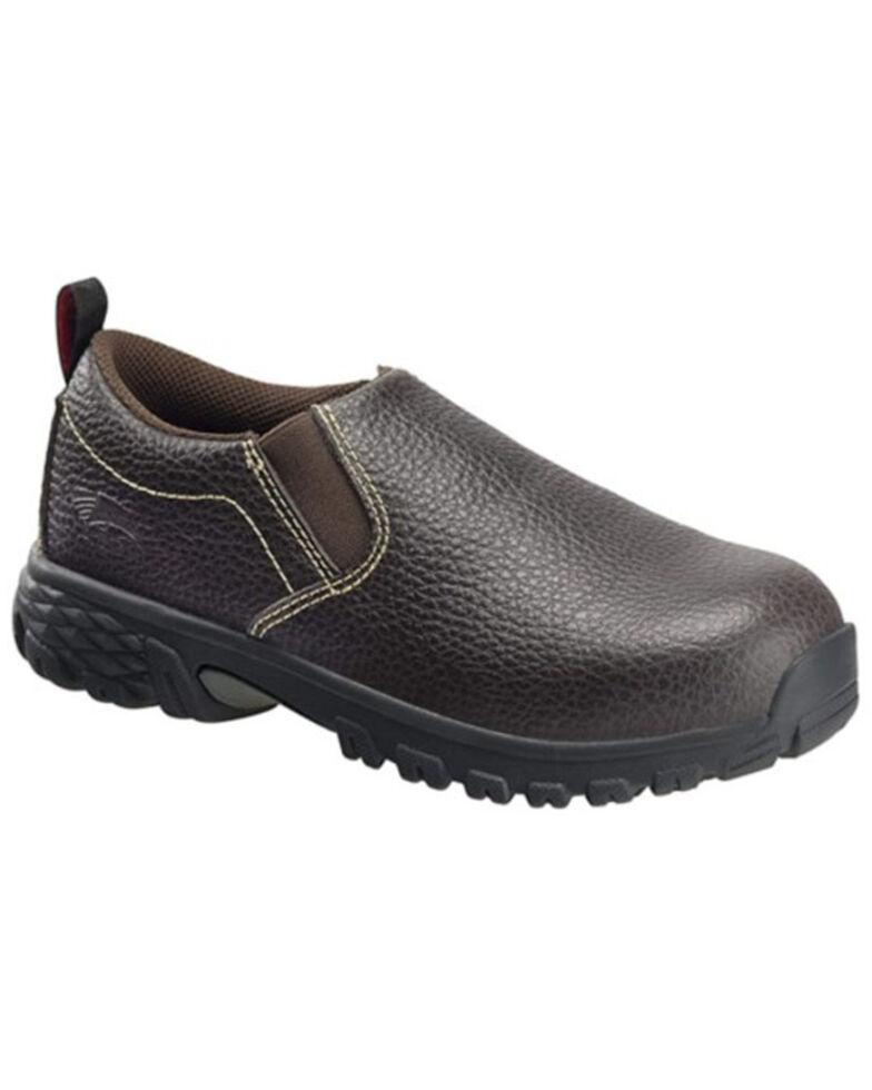Avenger Women's Flight Brown Work Shoes - Alloy Toe, Brown, hi-res