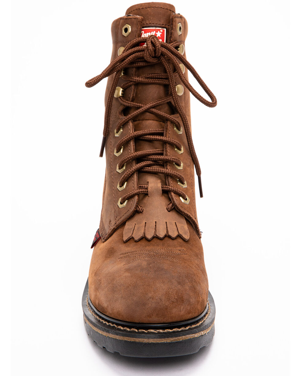 "Tony Lama Men's TLX 8"" Work Western Boots, Tan, hi-res"