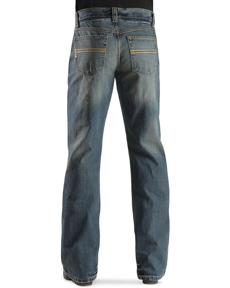 Cinch Men's Carter Relaxed Fit Boot Cut Jeans, Med Stone, hi-res