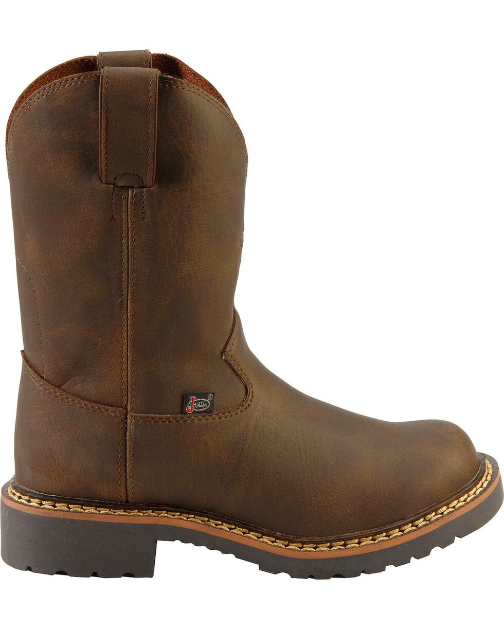 Justin Children's Work Boots - Round Toe, Brown, hi-res