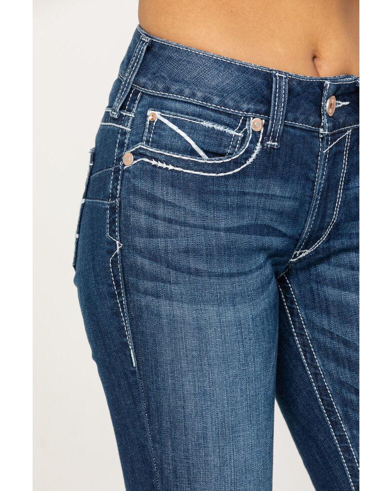 Ariat Women's Navajo Baseball Bootcut Jeans, Blue, hi-res