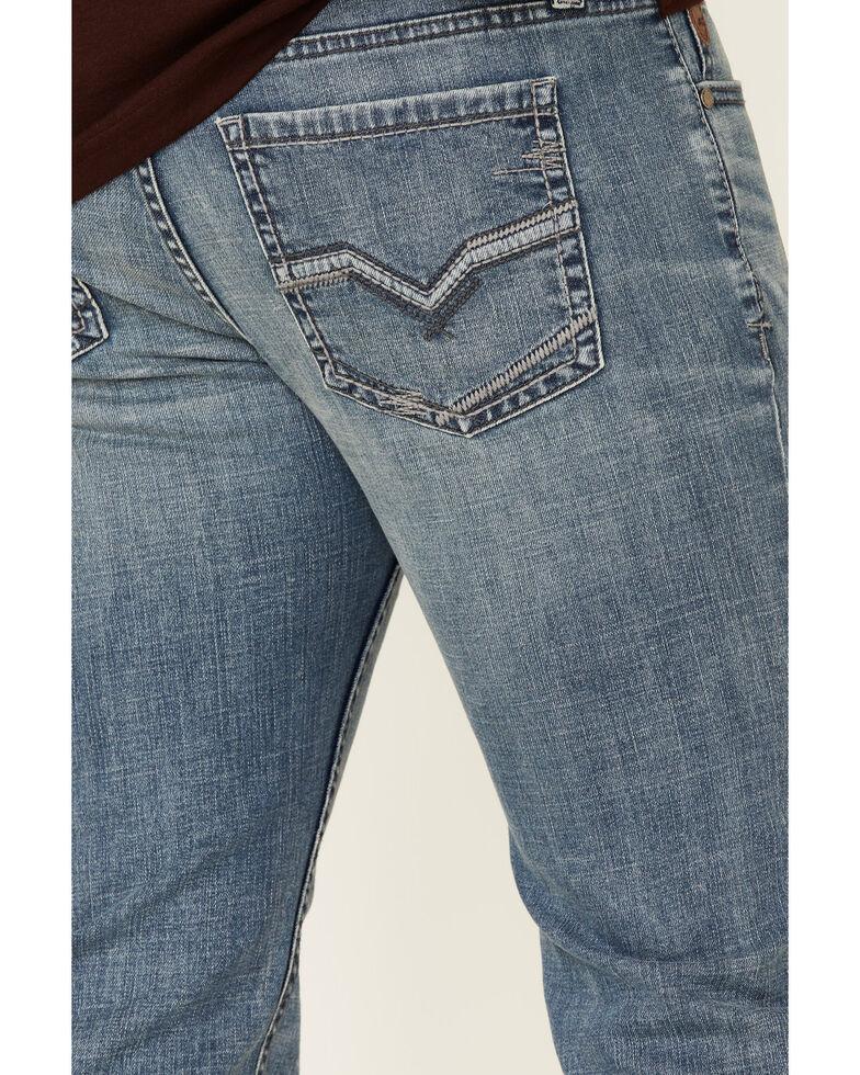 Moonshine Spirit Men's Hang Fire Med Light Stretch Slim Bootcut Jeans , Blue, hi-res
