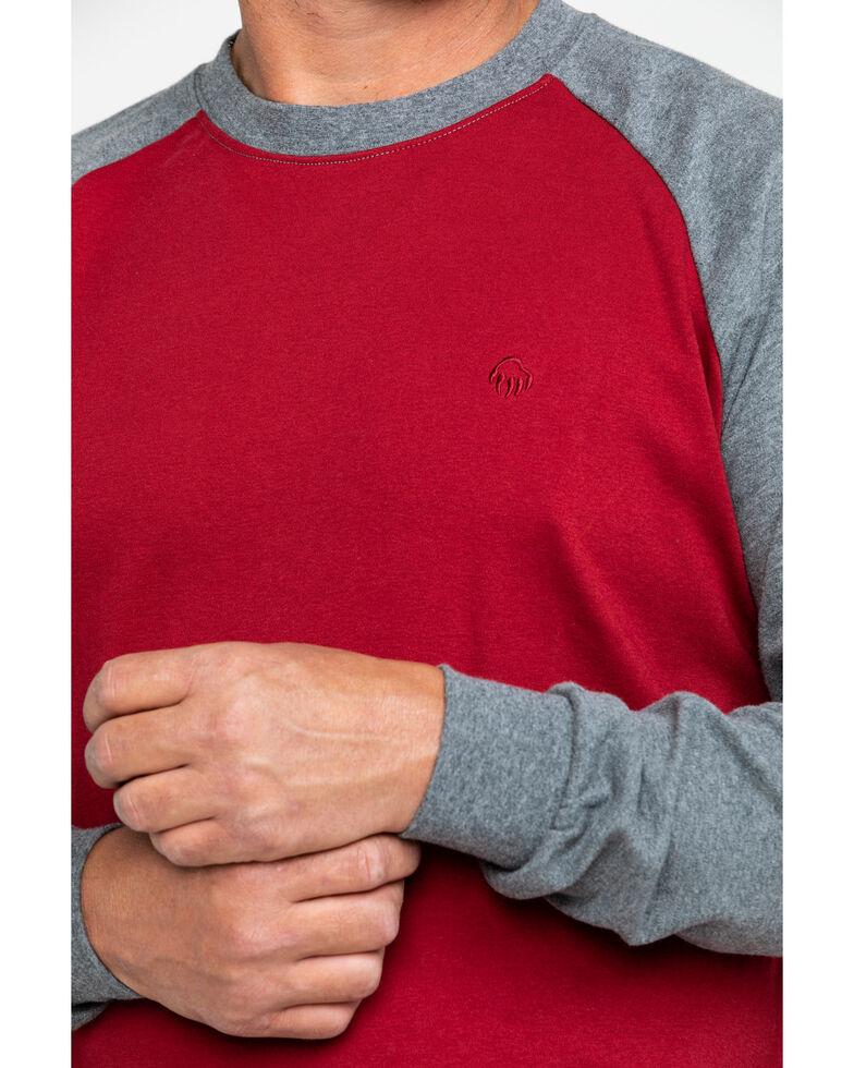 Wolverine Men's Brower Baseball Long Sleeve Work Shirt, Dark Red, hi-res