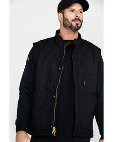 Ariat Men's Black FR Workhorse Work Vest, Black, hi-res