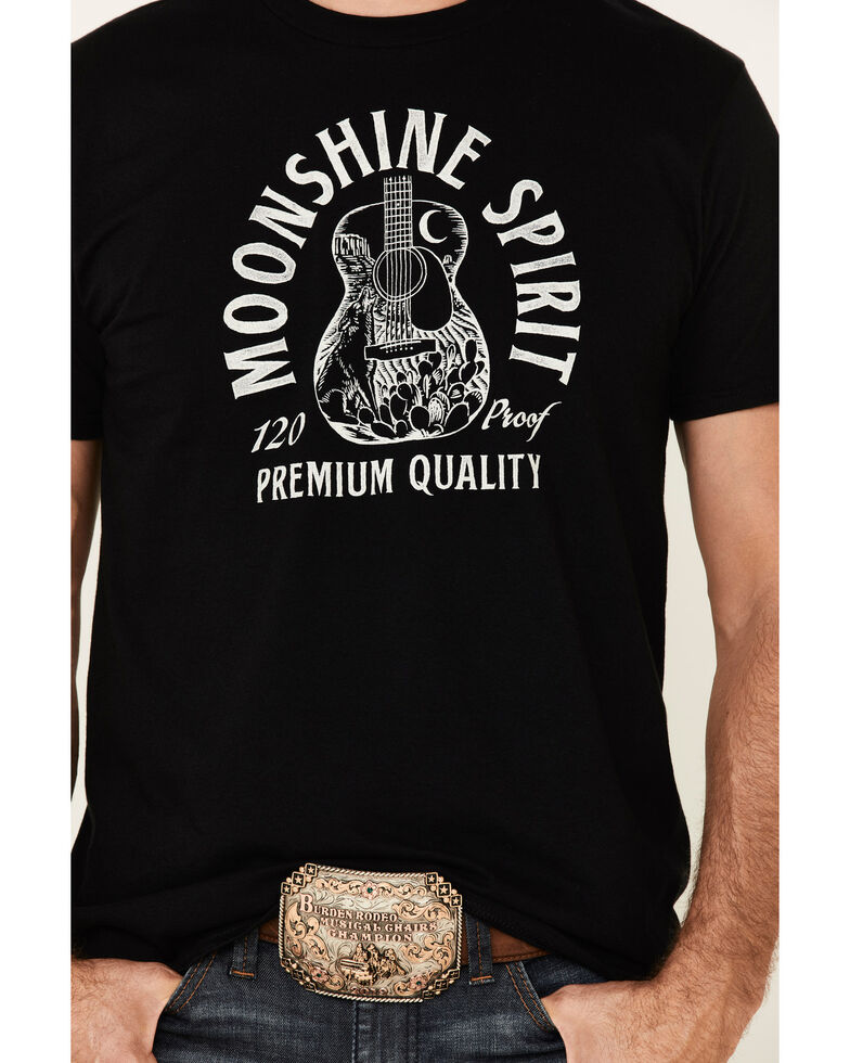 Moonshine Spirit Men's Black Scenic Guitar Graphic T-Shirt , Black, hi-res