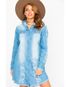 Tasha Polizzi Women's Billie Tunic Dress , Indigo, hi-res