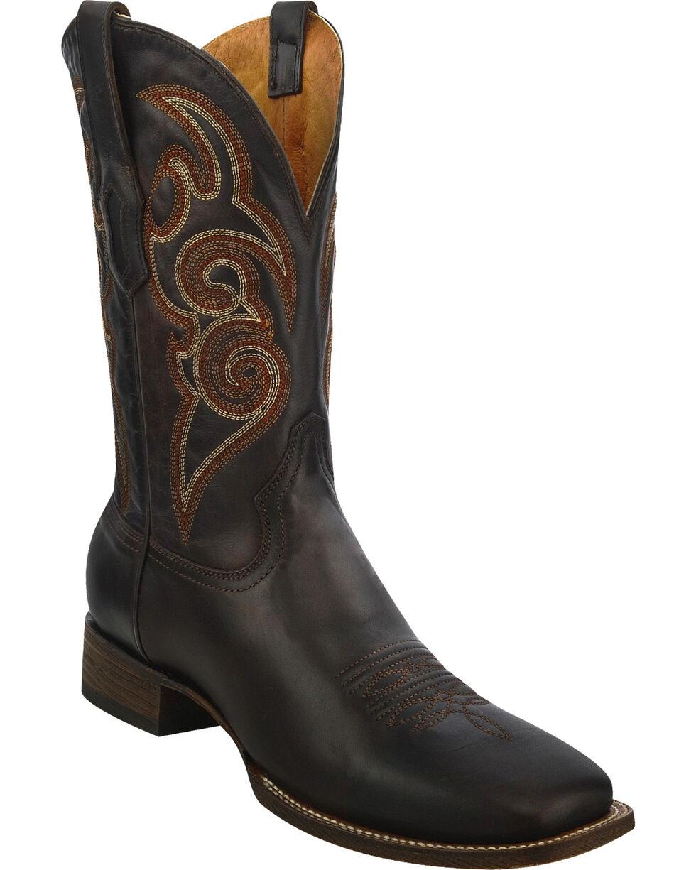 Corral Men's Classic Square Toe Western Boots, Cognac, hi-res
