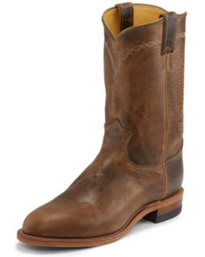 Justin Men's Brock Desert Western Boots - Round Toe, Lt Brown, hi-res