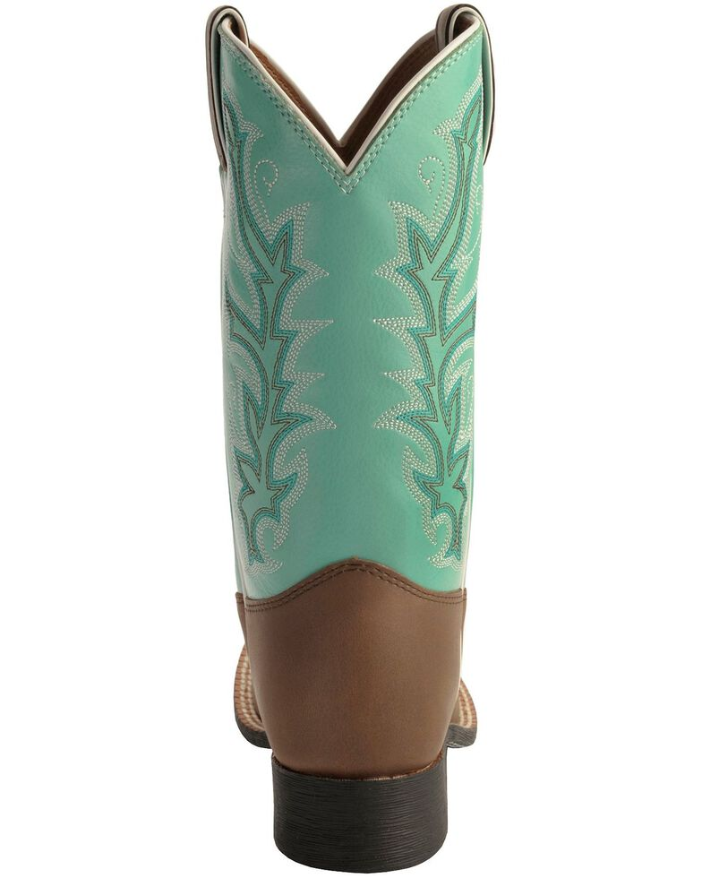 Justin Kid's Western Boots, Chocolate, hi-res