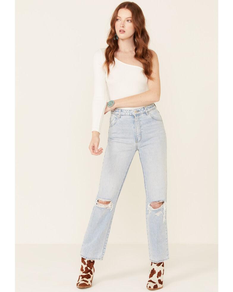 Rolla's Women's Sunbleach Originals Straight Leg Jeans, Blue, hi-res