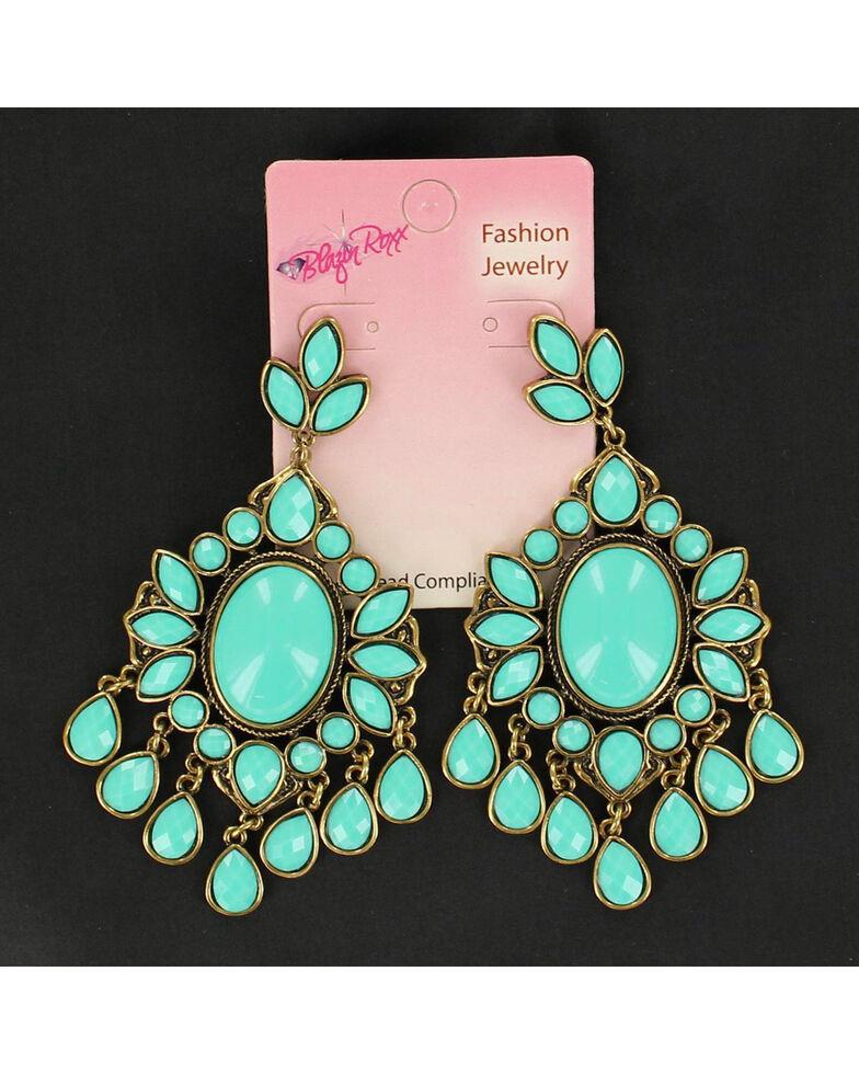 Blazin Roxx Turquoise Drop Chandelier Earrings, Turquoise, hi-res