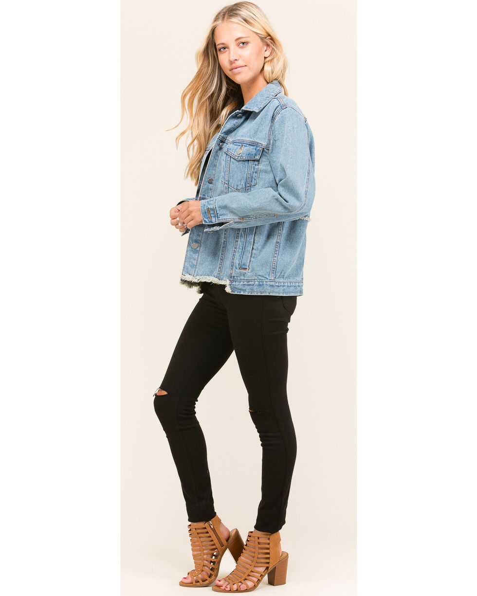 Polagram Women's Redone Denim Jacket, Indigo, hi-res