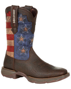 Durango Women's Red, White, & Blue Western Boots - Square Toe, Multi, hi-res