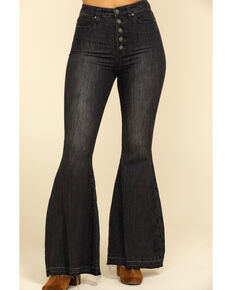 Free People Women's Black Irreplaceable Flare Jeans  , Black, hi-res