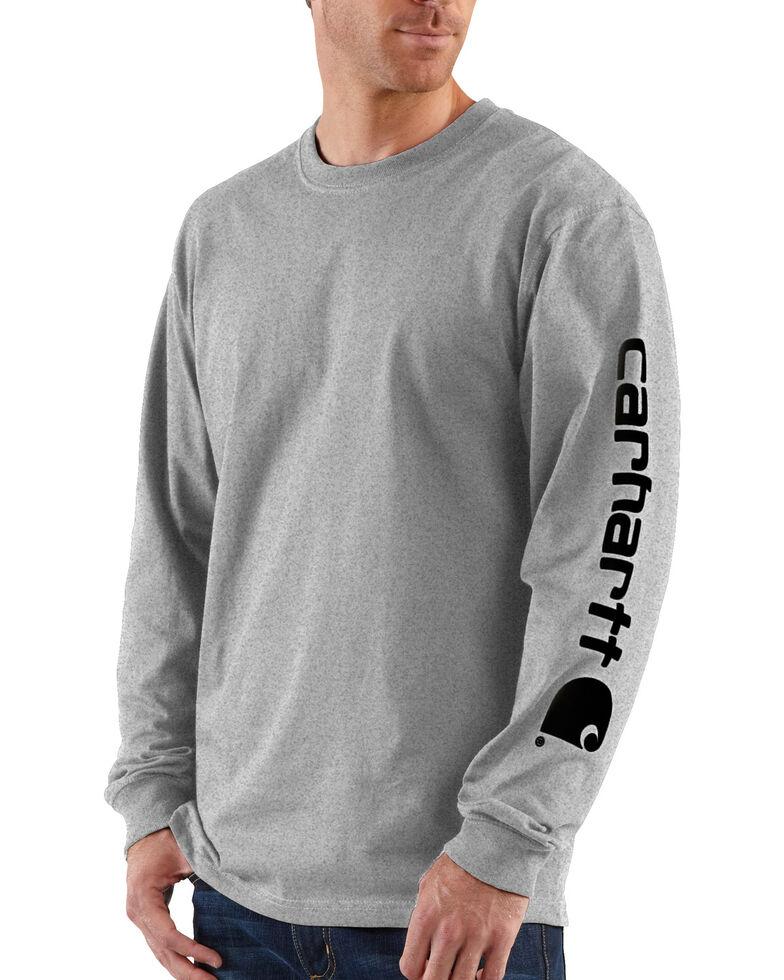 Carhartt Signature Logo Sleeve Knit T-Shirt, Hthr Grey, hi-res