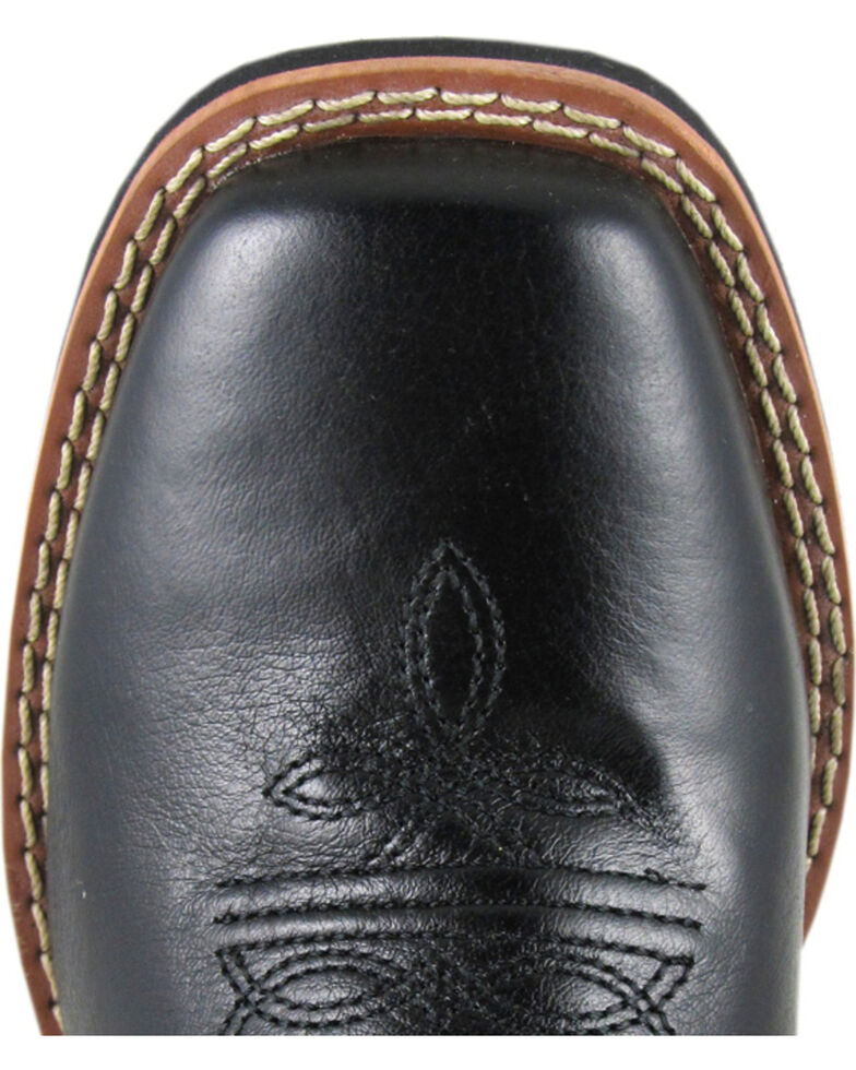 Smoky Mountain Youth Boys' Mesa Western Boots - Square Toe, Black, hi-res
