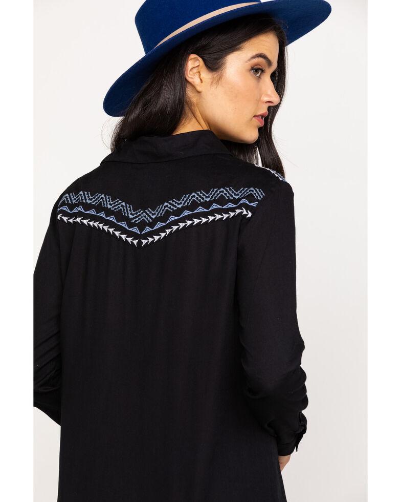 Roper Women's Geometric Floral Embroidered Dress, Black, hi-res