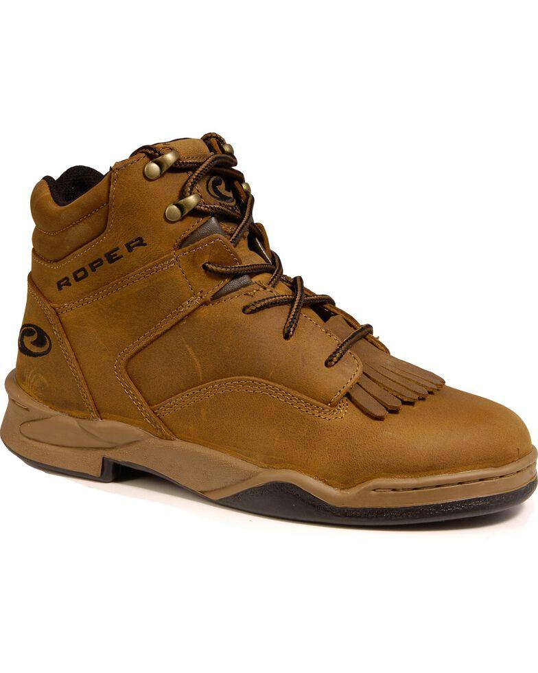 Roper Men's Classic Horseshoe Riding Boots, Brown, hi-res