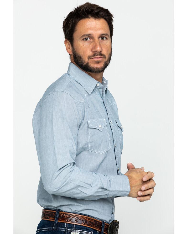 Wrangler Retro Men's Railroad Stripe Print Long Sleeve Western Shirt , , hi-res