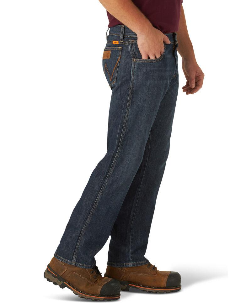 Wrangler Retro Men's FR Eagles Dark Slim Straight Work Jeans , Blue, hi-res