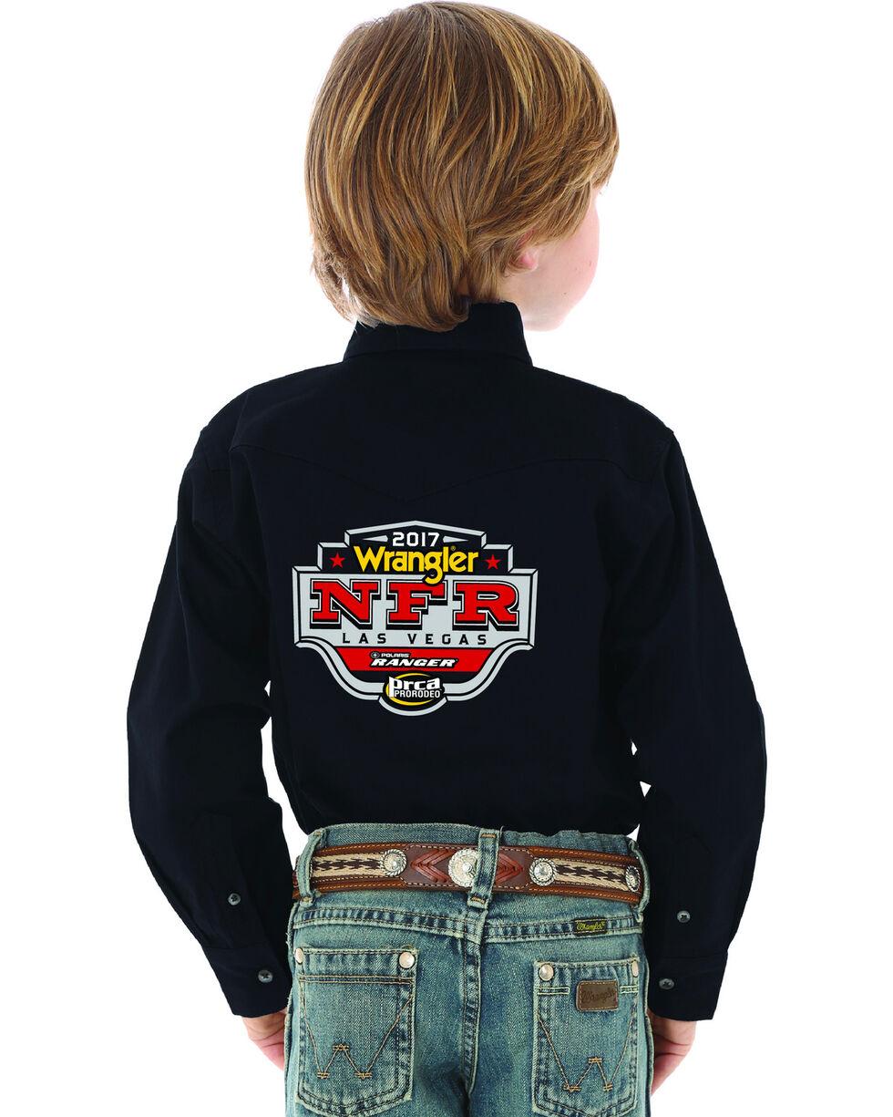 Wrangler Boys' Black NFR Logo Western Shirt , Black, hi-res