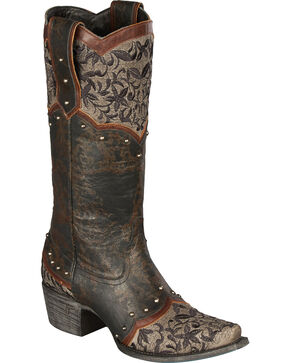 Lane Women's Kimmie Western Fashion Boots, Black, hi-res