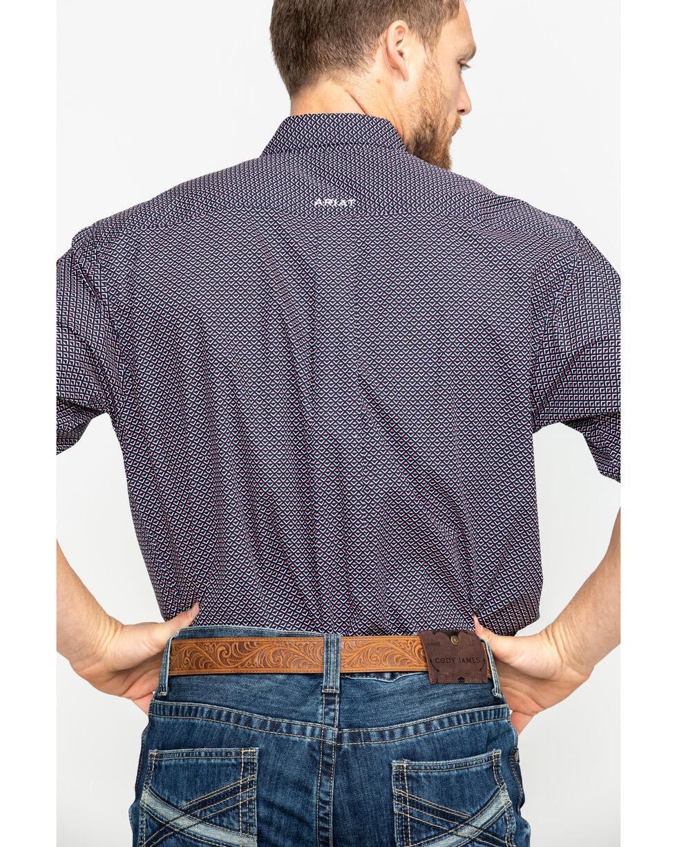 Ariat Men's Darret Geo Print Short Sleeve Western Shirt - Big & Tall , Black, hi-res