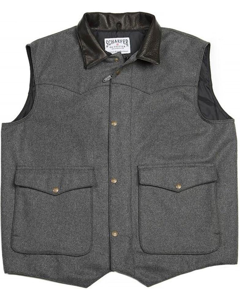 Schaefer Outfitter Men's 713 Wool Cattleman Vest, Charcoal, hi-res