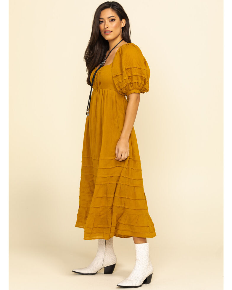Free People Women's Lets Be Friends Midi Dress, Rust Copper, hi-res