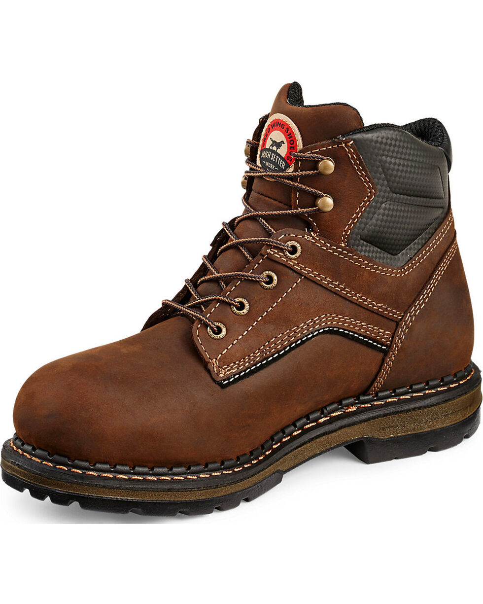"Irish Setter by Red Wing Shoes Men's Ramsey 6"" EH Waterproof Work Boots - Soft Round Toe  , Brown, hi-res"