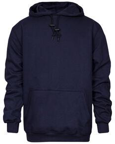 National Safety Apparel Men's 2X-3X Navy FR Heavyweight Hooded Work Sweatshirt - Tall, Navy, hi-res