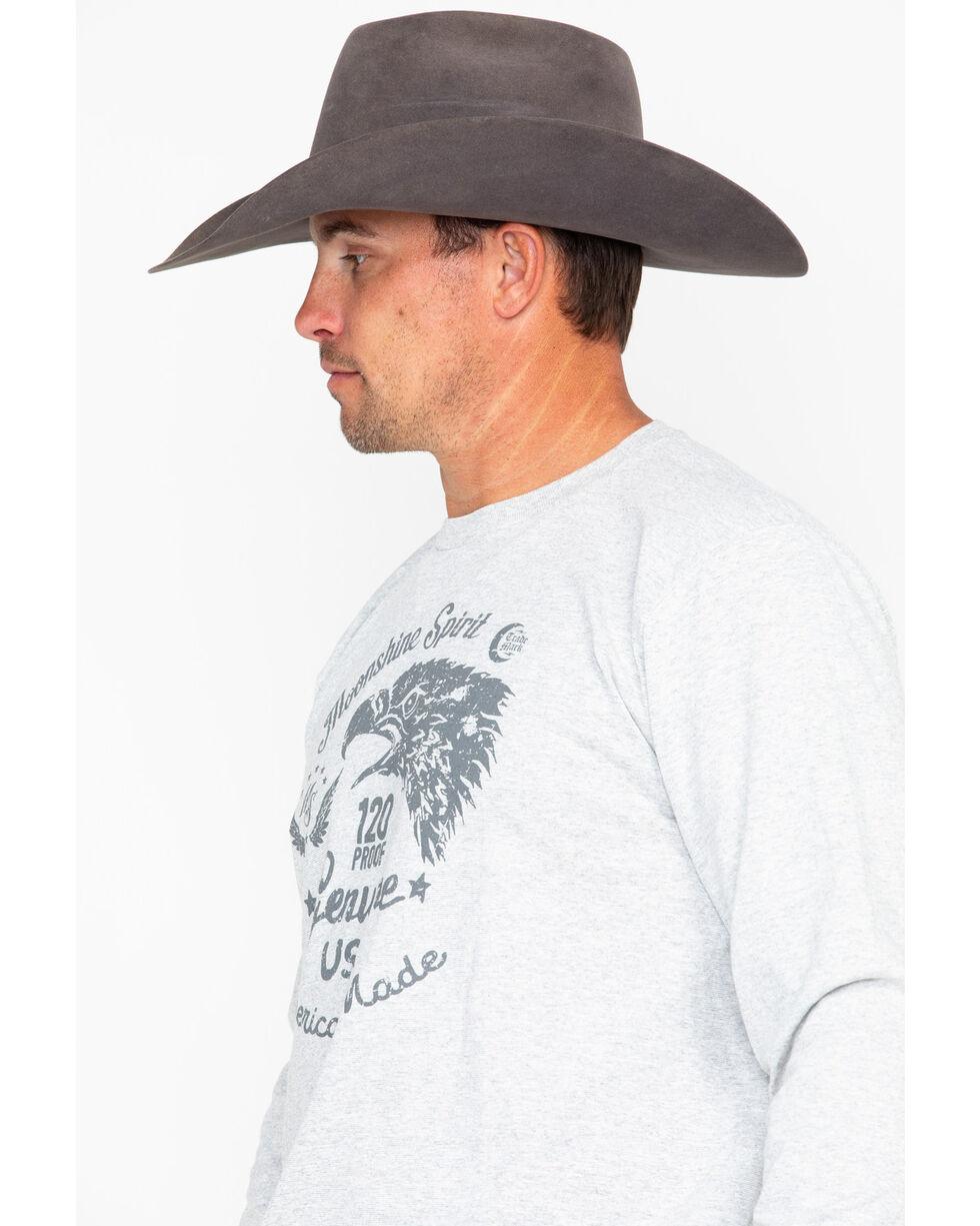 Moonshine Spirit Men's Beak Genuine USA Graphic Long Sleeve Shirt , Grey, hi-res