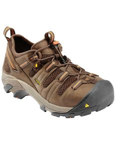 Keen Footwear Men's Atlanta Cool Steel Toe WP Work Shoes, Forest Green, hi-res