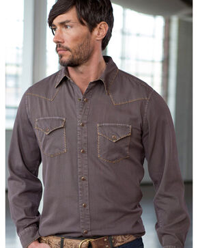 Ryan Michael Men's Textured Stripe Silk Shirt, Chestnut, hi-res
