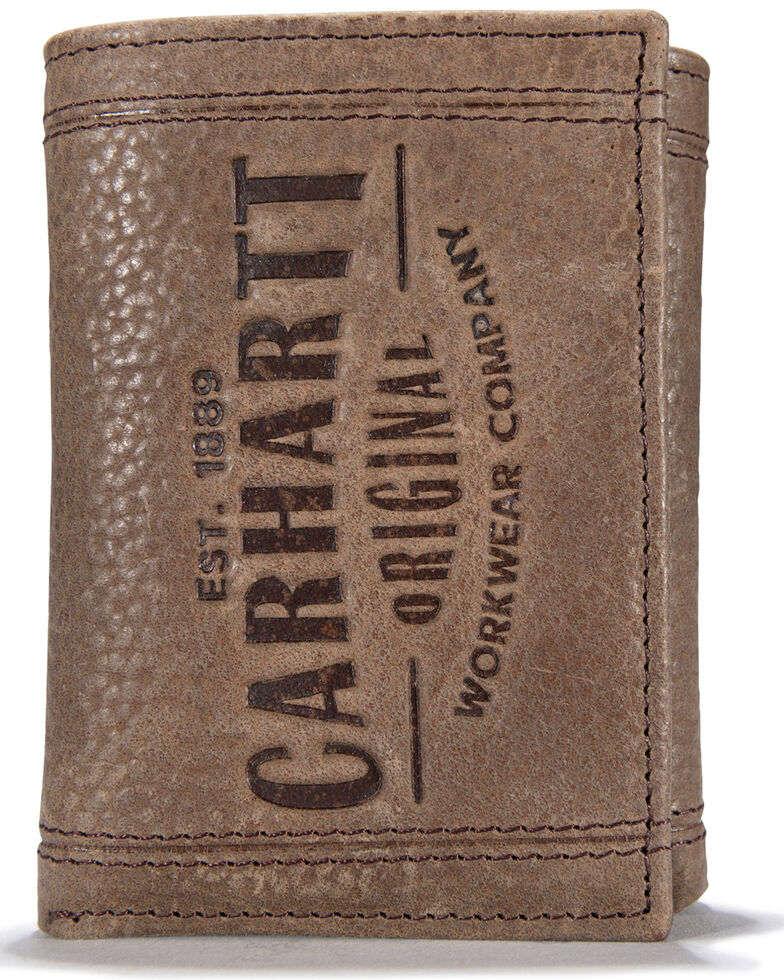 Carhartt Men's Workwear Trifold Wallet, Brown, hi-res