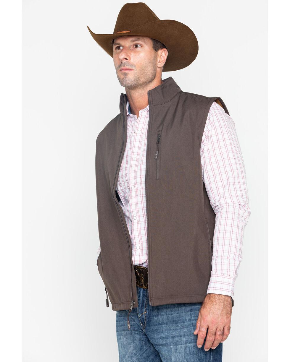 Cody Core Men's Arrowhead Bonded Vest - Big & Tall , Brown, hi-res