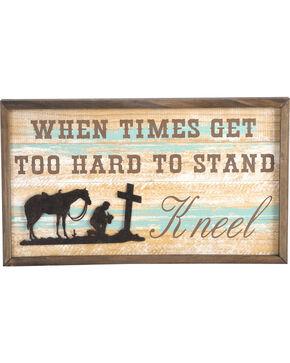 BB Ranch Kneeling Cowboy Wall Art, No Color, hi-res