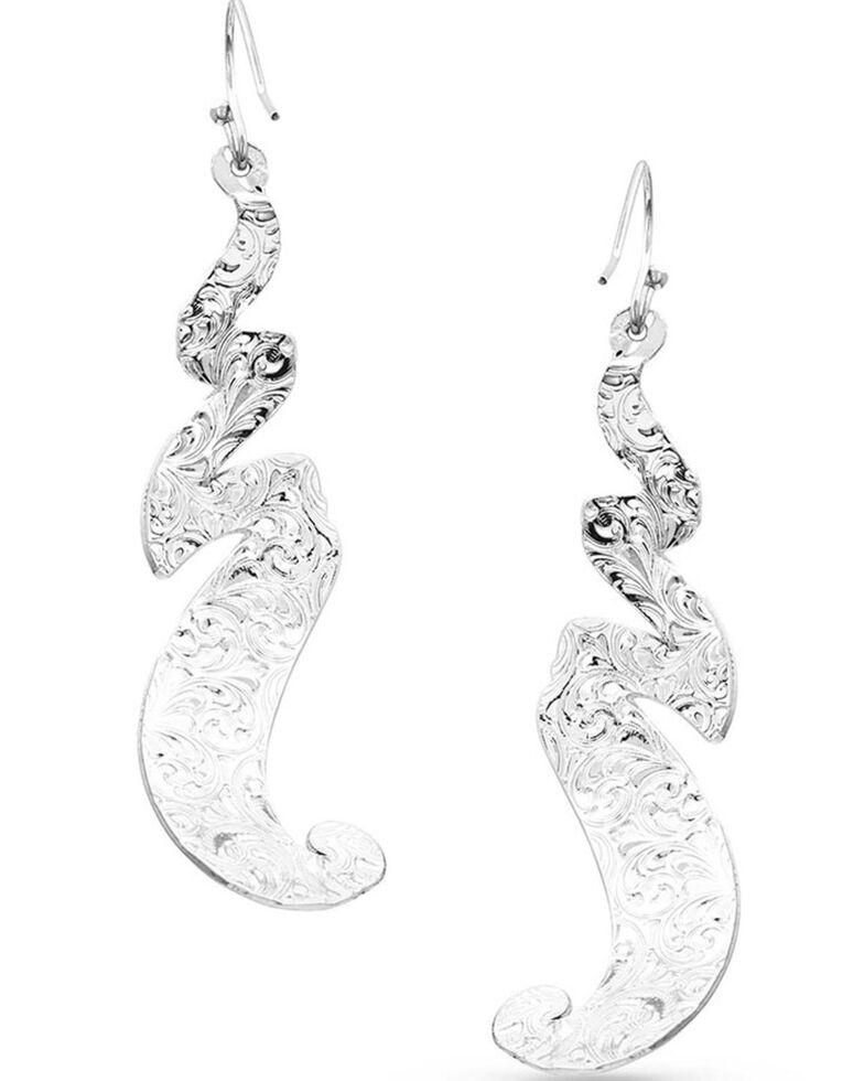 Montana Silversmiths Women's Free Spirit Feather Earrings, Silver, hi-res