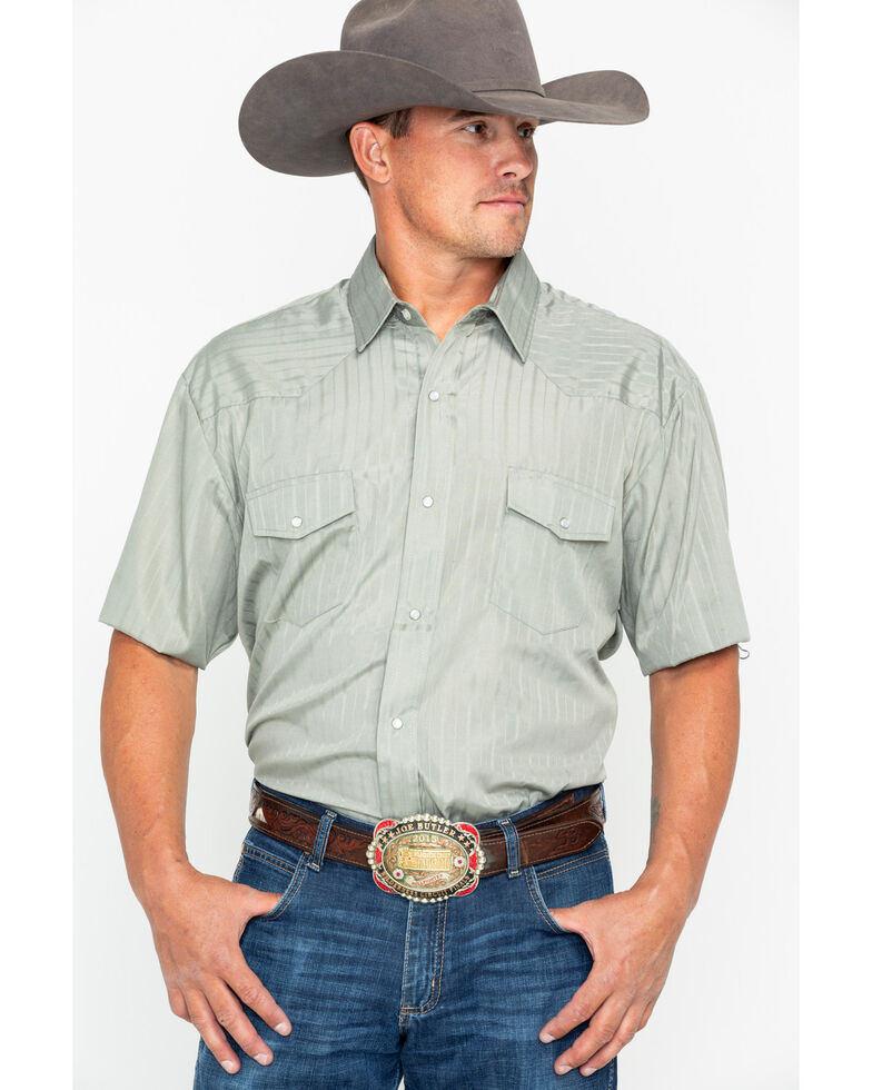3b7bfe76db8cc2 Roper Men s Classic Tone On Tone Western Shirt - Extended Sizes ...