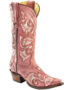 7940b67d2a2 Corral Women s Floral Stitched Snip Toe Western Boots