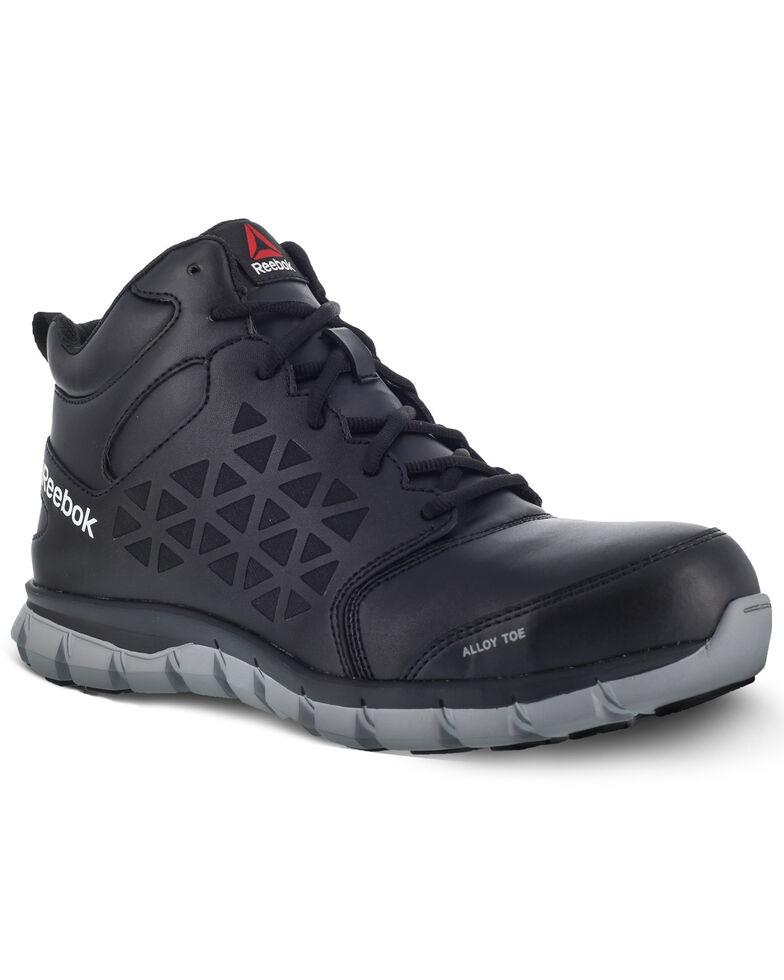 Reebok Men's Sublite Black Work Shoes - Alloy Toe, Black, hi-res