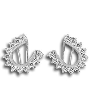 Kelly Herd Women's Silver Scalloped Horseshoe Earrings , Silver, hi-res