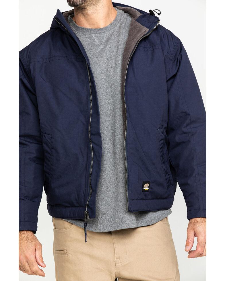 Berne Men's Navy Torque Ripstop Hooded Work Jacket , Navy, hi-res