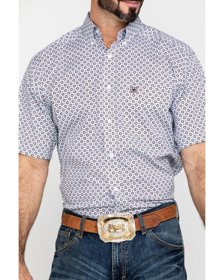 Ariat Men's Lockhart Stretch Geo Print Short Sleeve Western Shirt - Big , Multi, hi-res
