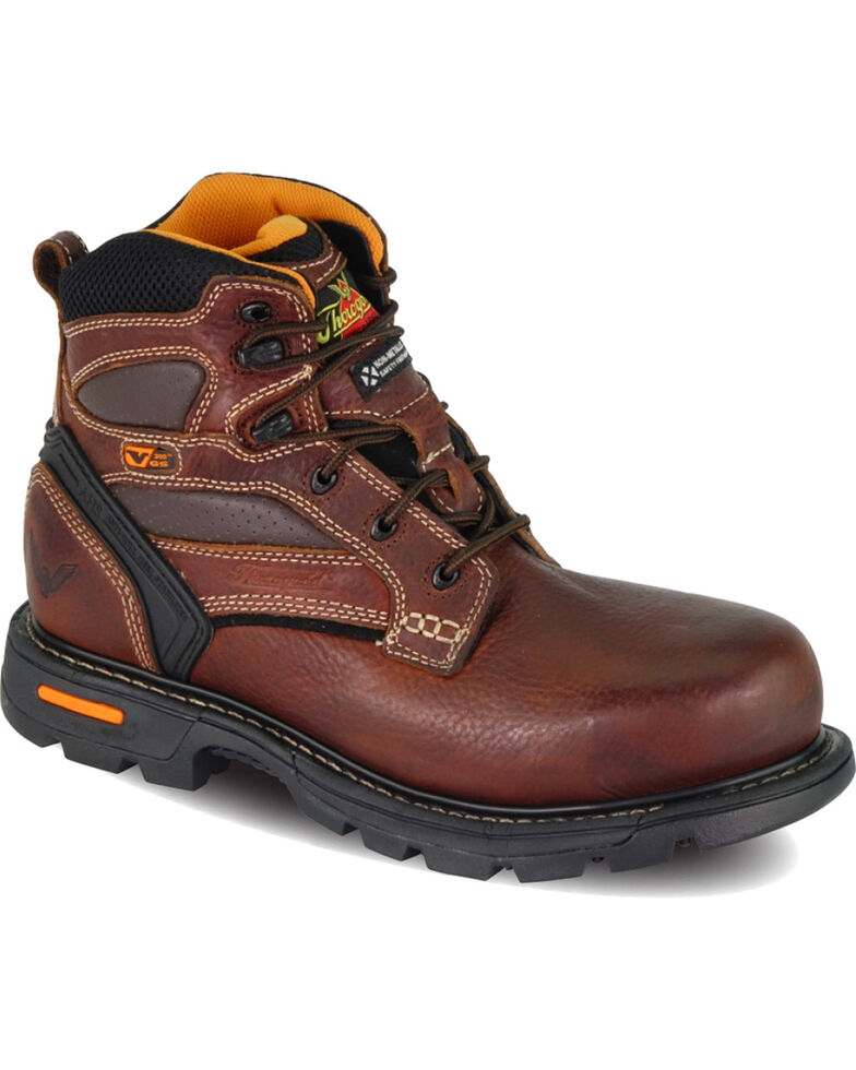 "Thorogood Men's GenFlex2 6"" Work Boots - Composite Toe, Brown, hi-res"